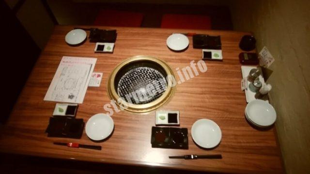 テーブルは1つで4人