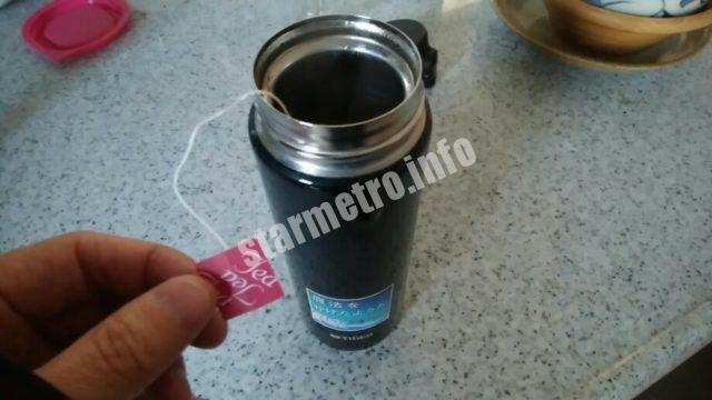 和紅茶を水筒に