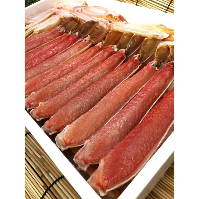 ~魚屋おススメ~箸で取れるよ。ぶっとい身の生食ズワイガニ完全ハーフポーション