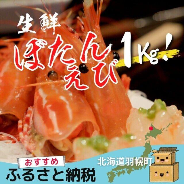 北海道苫前郡羽幌町のふるさと納税人気返礼品 生鮮ボタンエビ