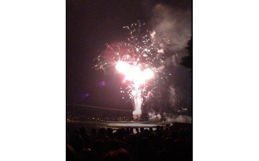 第70回諏訪湖祭湖上花火大会「ふるさと寄附」枠ペア桟敷券