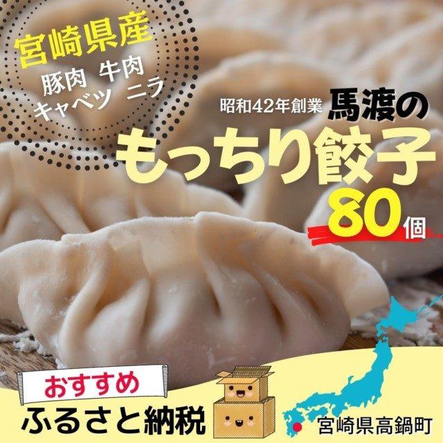 宮崎県高鍋町のふるさと納税人気返礼品5位 <馬渡のもっちり餃子80個>