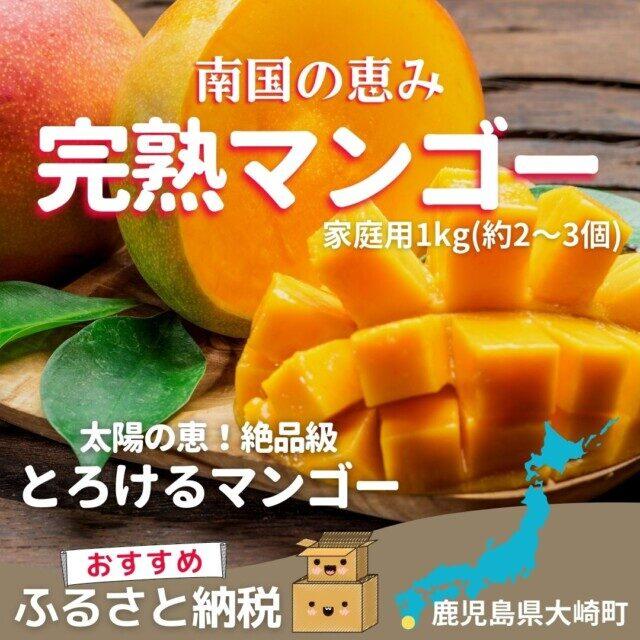 鹿児島県大崎町のふるさと納税人気返礼品10位 南国の恵み 完熟マンゴー(家庭用)