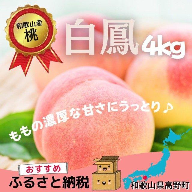 和歌山県高野町のふるさと納税人気返礼品1位 和歌山県産『白鳳』 約4kg (青秀以上)