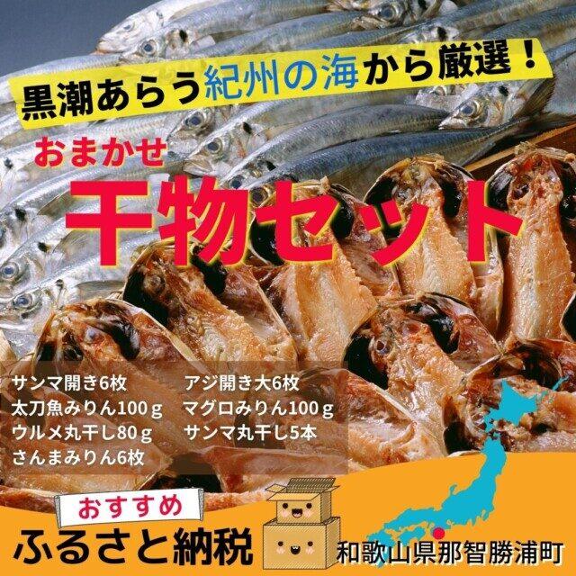 和歌山県那智勝浦町のふるさと納税返礼品TOP8.黒潮あらう紀州の海から厳選されたおまかせ干物セット