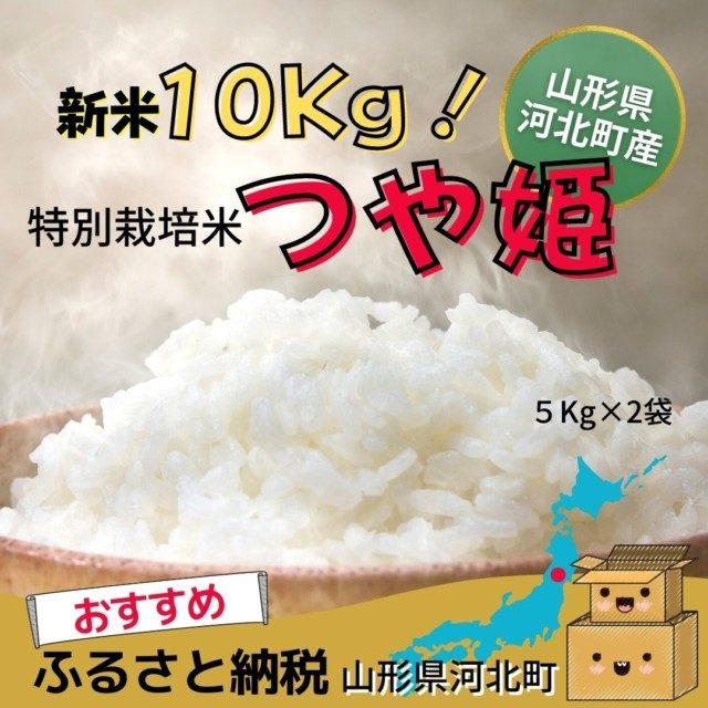 山形県河北町産『つや姫』10㎏(5kg×2袋)