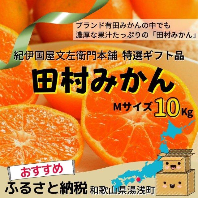 10位 田村みかん/特選ギフト品10kg【Mサイズ】赤秀/紀伊国屋文左衛門本舗