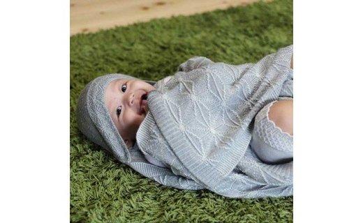 出産お祝いに!【ふるさと納税返礼品】禰豆子の着物柄と同じ「麻の葉模様」のアフガン